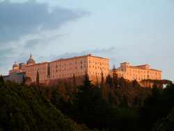 Montecassino and Caserta tour - The Abbey of Montecassino on the top of the hill