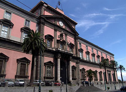 Naples tour - Facade of the Royal Archaeological Museum of Naples