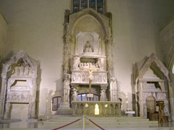 NAPLES GOTHIC CHURCHES: The tomb of the Robert Anjou, king of Naples, in Santa Chiara Church