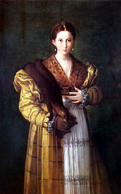Capodimonte Museum - Antea (also known as Portrait of a Young Woman) is a painting by the Italian Mannerist artist Parmigianino, executed around 1524-1527