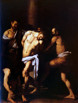 Capodimonte Museum - The Flagellation of Christ is a painting by the Italian master Caravaggio dating to 1607