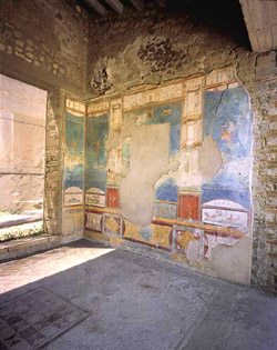 Fresco in the House of Ancient Hunt in Pompeii