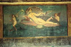 "The fresco of ""Venus in the shell"""