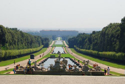 Montecassino and Caserta tour - A panoramic view of the Palace and Royal Park