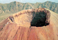 Crater of Vesuvius, the symbol of Naples
