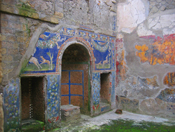 Interior of an house in the Herculaneum ruins