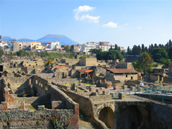 View of Herculaneum ruins