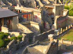 Ancient buildings in Herculaneum ruins