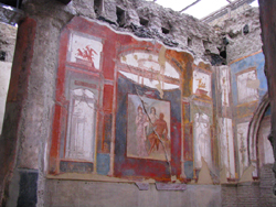 Fresco in a house in the Herculaneum ruins