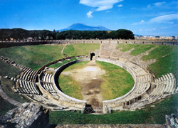 Amphitheater of Pozzuoli and Pompeii - Amphitheater of Pompeii, the most ancient in the world