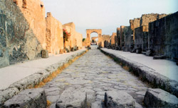 Amphitheater of Pozzuoli and Pompeii - A street of Pompeii