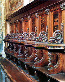 Naples San Martino Charterhouse - Benches in wood