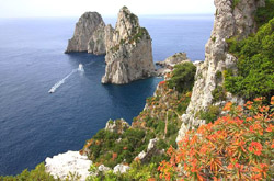 The Famous  Faraglioni of Capri