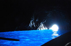 Inside the famous Blue Grotto